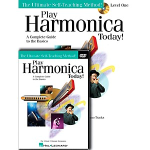 Hal-Leonard-Play-Harmonica-Today--Beginner-s-Pack---Includes-Book-CD-DVD-Standard