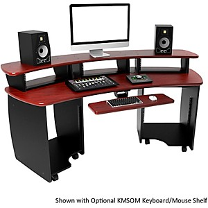 Omnirax-OMNIDesk-Audio-Video-Editing-Workstation---Mahogany-Standard