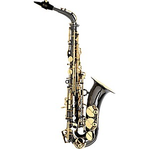 Keilwerth-SX90R-Black-Nickel-Model-Professional-Alto-Saxophone-Black-Nickel-with-Gold-Lacquer-Keys