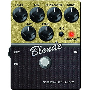 Tech-21-SansAmp-Character-Series-Blonde-V2-Distortion-Guitar-Effects-Pedal-Standard