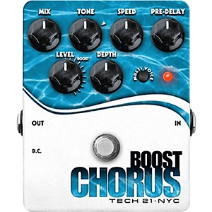 Tech-21-Boost-Chorus-Guitar-Effects-Pedal-Standard