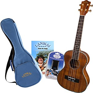 Lanikai-LKP-T-Koa-Tenor-Ukulele-Pack-Satin-Natural