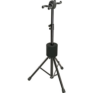 K-M-Double-Guitar-Stand-Black