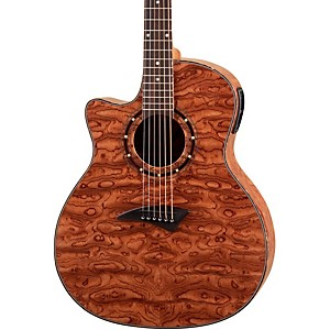 Dean-Exotica-Left-Handed-Bubinga-Acoustic-Electric-Guitar-w-Aphex-Bubinga-Wood