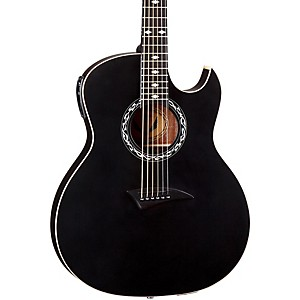Dean-Exhibition-thin-Body-Acoustic-Electric-Guitar-w-Aphex-Black-Satin