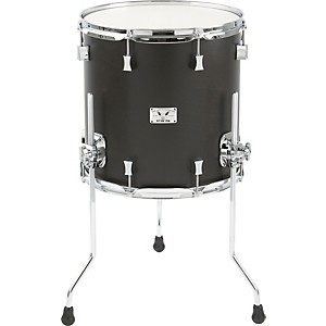 Pork-Pie-Little-Squealer-Birch---Mahogany-Floor-Tom-14x14-Black-Satin