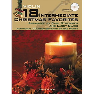 Carl-Fischer-18-Intermediate-Christmas-Favorites---Violin-Book-CD-Standard