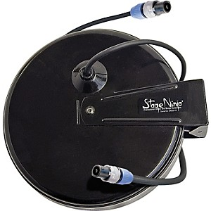 Stage-Ninja-Stage-Ninja-Retractable-Speaker-Cable--Speakon--with-Neutrik-NL2FC--Series-Connectors-Black