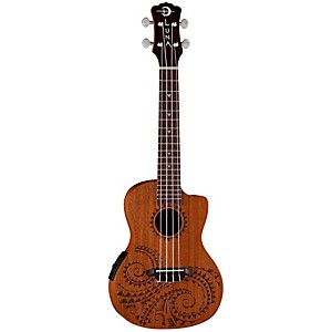 Luna-Guitars-Tattoo-Concert-Ukulele-with-Preamp-Mahogany-with-Tattoo-laser-etch-and-Satin-Finish