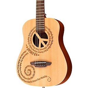 Luna-Guitars-Safari-3-4-Size-Travel-Guitar-with-Peace-Design-Mahogany-with-Satin-Finish
