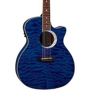 Luna-Guitars-Fauna-Eclipse-Grand-Concert-Acoustic-Electric-Guitar-Maple-with-Trans-Blue-Finish