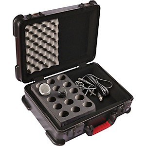 Gator-ATA-Molded-Microphone-Case-With-Drops-for-15-Mics