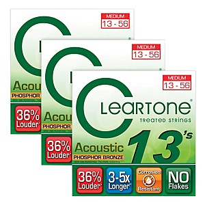 Cleartone-Cleartone-Coated-Medium-Acoustic-Guitar-Strings-Buy-2-Get-One-Free-Standard