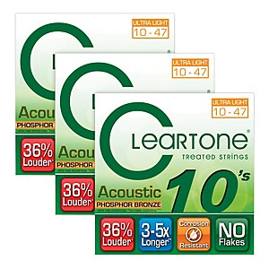 Cleartone-Cleartone-Coated-Ultra-Light-Acoustic-Guitar-Strings-Buy-Two-Get-One-Free-Standard