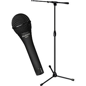 Audix-Ultimate-Support-OM-2-Microphone-with-PRO-T-T-Telescoping-Boom-Mic-Stand-Pack-Standard
