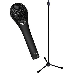 Audix--Ultimate-Support-OM-2-Microphone-with-LIVE-T-1-Hand-Height-Adjustment-Mic-Stand-Pack-Standard