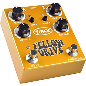 T-Rex-Engineering-Yellow-Drive-Distortion-Guitar-Effects-Pedal-Standard