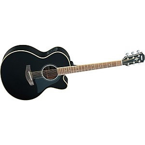 Yamaha-CPX700II-Medium-Jumbo-Cutaway-Acoustic-Electric-Guitar-Black