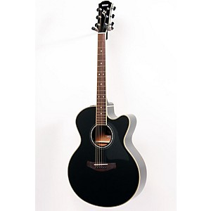 Yamaha-CPX700II-Medium-Jumbo-Cutaway-Acoustic-Electric-Guitar-Black-886830837241