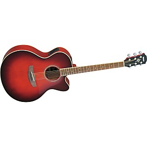 Yamaha-CPX500II-Medium-Jumbo-Cutaway-Acoustic-Electric-Guitar-Dark-Red-Burst