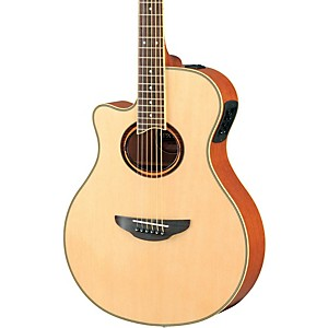 Yamaha-APX700IIL-Thinline-Cutaway-Left-Handed-Acoustic-Electric-Guitar-Natural