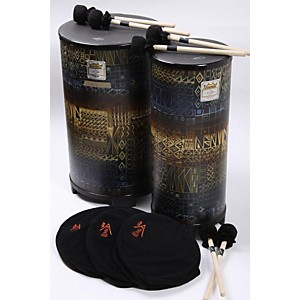 Remo-NSL-Tall-Tubano-Set-of-10--12--14-inch-with-Volume-Control-Caps-and-Mallets-Island-886830386435
