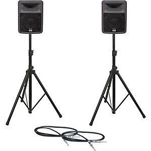 Peavey-PR-10-Speaker-Pair-with-Stands-and-Cables-Standard