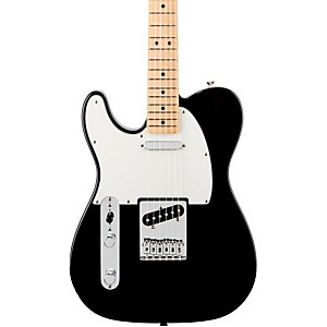 Fender-Standard-Telecaster-Left-Handed--Electric-Guitar-Black-Gloss-Maple-Fretboard