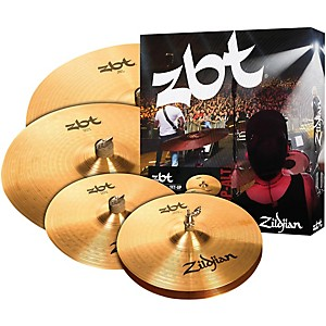 Zildjian-ZBT-Pro-Cymbal-Pack-with-Free-14--ZBT-Crash-Standard
