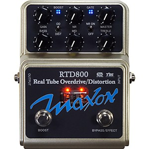 Maxon-RTD800-Real-Tube-Overdrive-and-Distortion-Guitar-Effects-Pedal-Standard