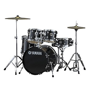 Yamaha-Gigmaker-5-Piece-Shell-Pack-w-20--Bass-Drum-Black-Glitter