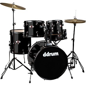 Ddrum-D120B-5-Piece-Drum-Set-Black