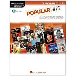Hal-Leonard-Popular-Hits-For-Trombone---Instrumental-Play-Along-Book-CD-Standard