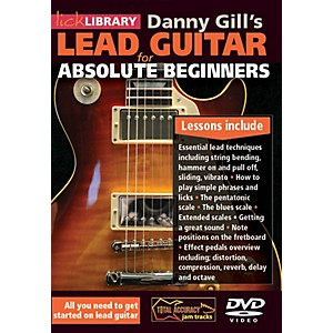 Hal-Leonard-Lick-Library-Lead-Guitar-For-Absolute-Beginners-DVD-Standard