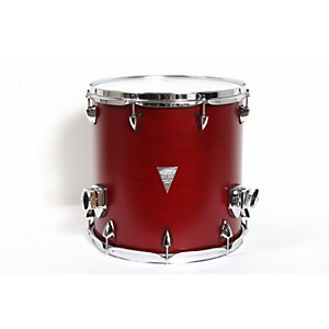 Orange-County-Drum---Percussion-Venice-Cherry-Wood-Floor-Tom-14x14-Red-Transparent-Lacquer-Finish