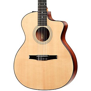 Taylor-214ce-N-Rosewood-Spruce-Nylon-String-Grand-Auditorium-Acoustic-Electric-Guitar-Natural