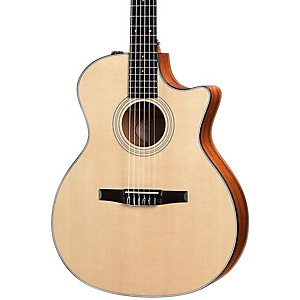 Taylor-314ce-N-Sapele-Spruce-Nylon-String-Grand-Auditorium-Acoustic-Electric-Guitar-Natural