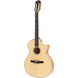Taylor-614ce-N-Maple-Spruce-Nylon-String-Grand-Auditorium-Acoustic-Electric-Guitar-Natural