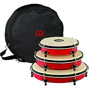 Meinl-Plenera-Set-of-8--10----12-ABS-Frames-with-Goat-Skin-Heads---Nylon-Bag-Standard