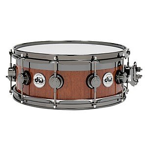 DW-VLT-Maple-Mahogany-Top-Edge-Snare-Drum-14x6-Inch-Black-Nickel-Hardware