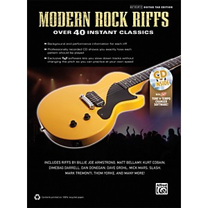 Alfred-Modern-Rock-Riffs-Guitar-Book---CD-Standard