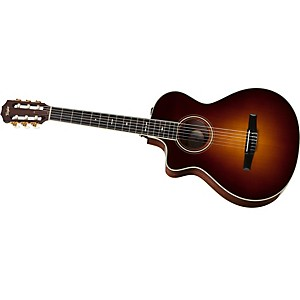 Taylor-712ce-N-L-Rosewood-Spruce-Nylon-String-Grand-Concert-Left-Handed-Acoustic-Electric-Guitar-Vintage-Sunburst