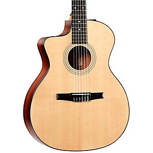 Taylor-214ce-N-L-Rosewood-Spruce-Nylon-String-Grand-Auditorium-Left-Handed-Acoustic-Electric-Guitar-Natural
