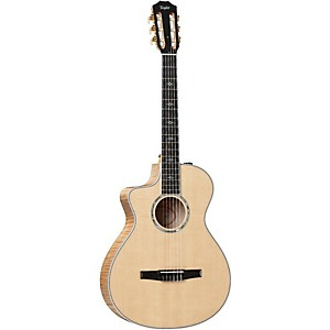 Taylor-612ce-N-L-Maple-Spruce-Nylon-String-Grand-Concert-Left-Handed-Acoustic-Electric-Guitar-Natural