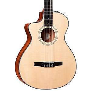 Taylor-312ce-N-L-Sapele-Spruce-Nylon-String-Grand-Concert-Left-Handed-Acoustic-Electric-Guitar-Natural