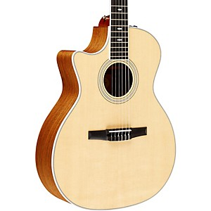 Taylor-2012-414ce-N-L-Ovangkol-Spruce-Nylon-String-Grand-Auditorium-Left-Handed-Acoustic-Electric-Guitar-Natural