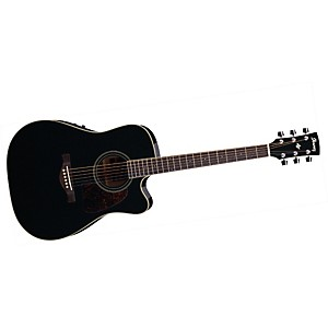 Ibanez-Artwood-Series-AW70ECE-Solid-Top-Dreadnought-Cutaway-Acoustic-Electric-Guitar-Black