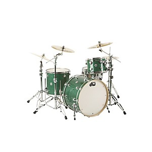 DW-Collector-s-Series-3-Piece-Shell-Pack-with-24--Bass-Drum-Green-Glass-Chrome-Hardware