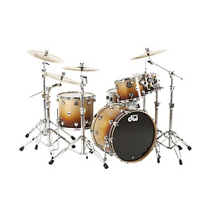 DW-Collector-s-Series-4-Piece-Specialty-Shell-Pack-Cherrywood-to-Burnt-Toast-Fade-Chrome-Hardware