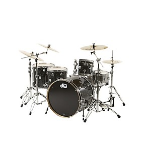 DW-Collector-s-Series-4-Piece-Shell-Pack-w-24--Bass-Drum-Black-Velvet-Chrome-Hardware-Black-Velvet-Chrome-Hardware